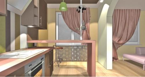 Коричневый цвет в интерьере кухни. Фото 6
