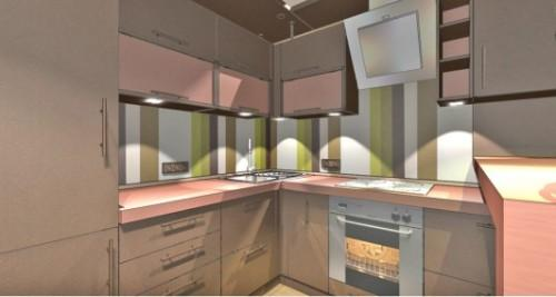 Коричневый цвет в интерьере кухни. Фото 7