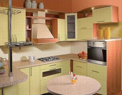 Кухни 10 кв. м. Фото 11