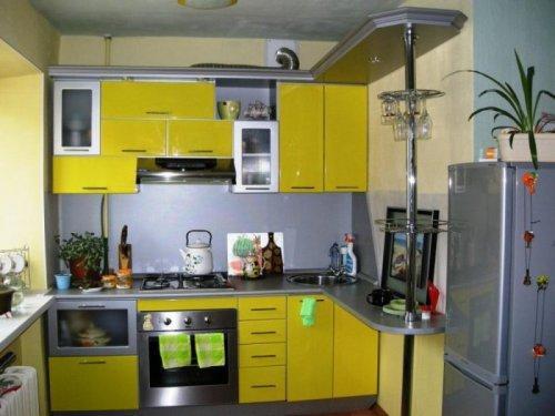 Кухни 8 кв. м. Фото 3