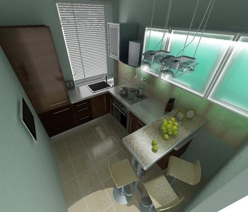 Кухни 8 кв. м. Фото 4