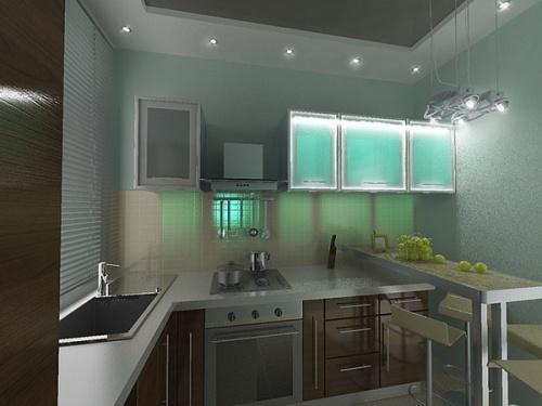 Кухни 8 кв. м. Фото 6