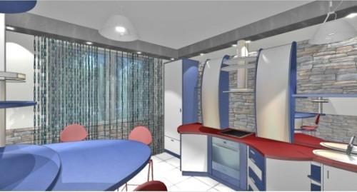 Кухня 10 кв.м. в стиле хай-тек. Фото 3
