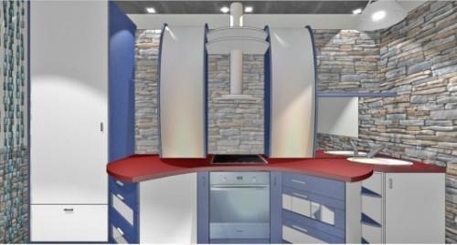 Кухня 10 кв.м. в стиле хай-тек. Фото 4