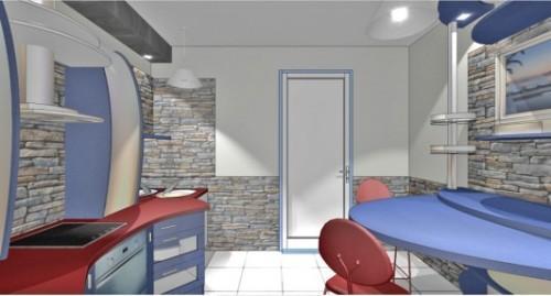 Кухня 10 кв.м. в стиле хай-тек. Фото 5