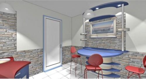 Кухня 10 кв.м. в стиле хай-тек. Фото 6