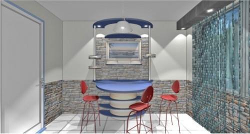 Кухня 10 кв.м. в стиле хай-тек. Фото 7