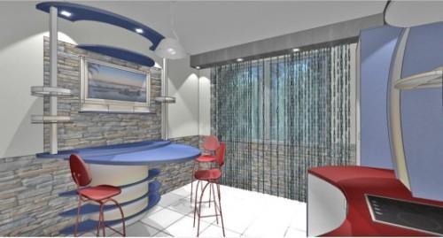 Кухня 10 кв.м. в стиле хай-тек. Проект кухни