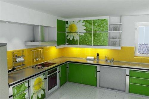 Кухня 14 кв. м. Фото 4