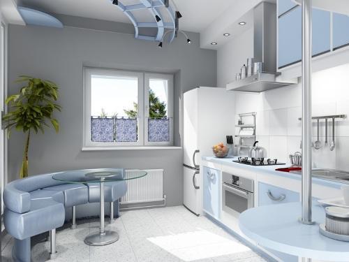 Кухня 14 кв. м. Фото 6