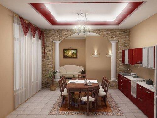Кухня 15 кв. м. Фото 3
