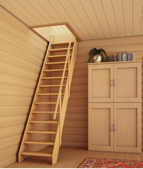 Лестница на мансарду. Фото 10