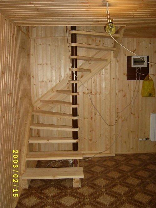 Лестница на мансарду. Фото 8