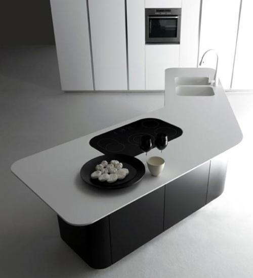Минимализм в интерьере кухни. Фото