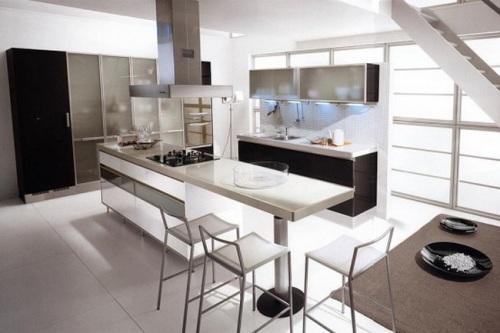 Минимализм в интерьере кухни. Фото 8
