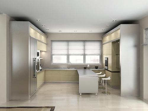 Минимализм в интерьере кухни. Фото 9