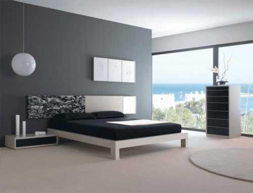 Минимализм в интерьере спальни. Фото 10