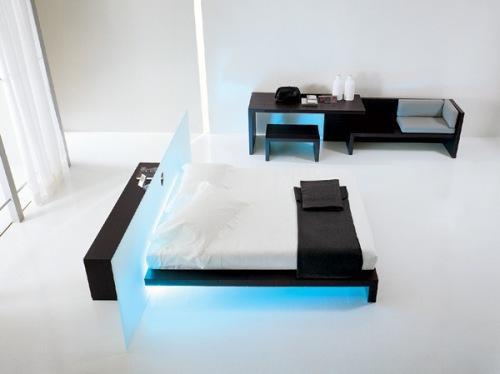 Минимализм в интерьере спальни. Фото 2