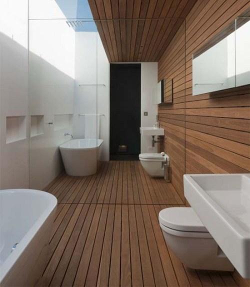Минимализм в интерьере ванной. Фото 10