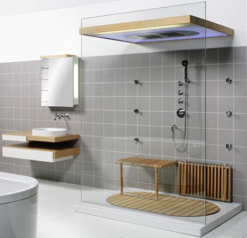 Минимализм в интерьере ванной. Фото