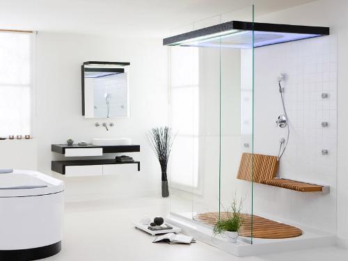 Минимализм в интерьере ванной. Фото 3