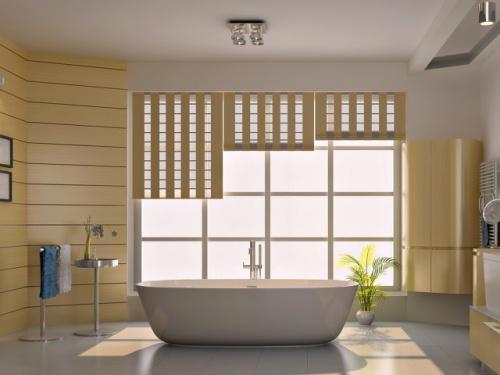 Минимализм в интерьере ванной. Фото 7