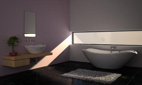 Минимализм в интерьере ванной. Фото 8