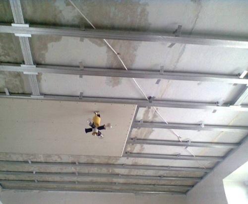 Монтаж гипсокартона своими руками потолков