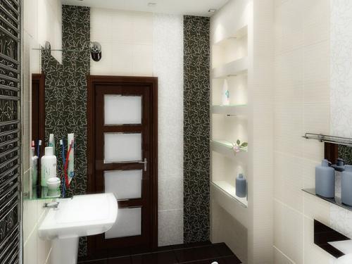 Ниши и полочки из гипсокартона в ванной комнате