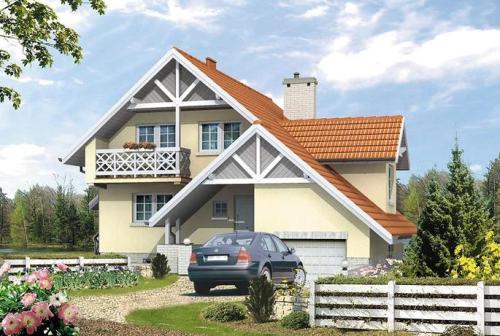 Одноэтажный дом с мансардой и гаражом. Фото 10