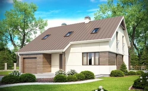 Одноэтажный дом с мансардой и гаражом. Фото 3