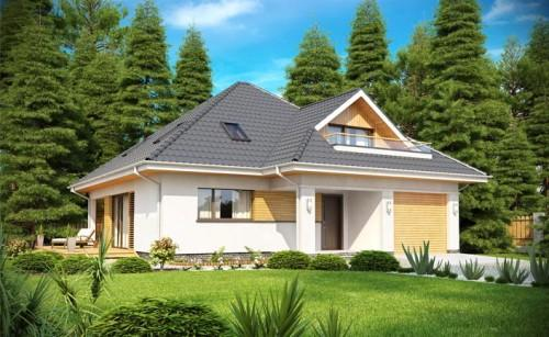Одноэтажный дом с мансардой и гаражом. Фото 4