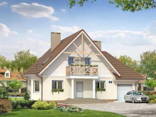 Одноэтажный дом с мансардой и гаражом. Фото 6