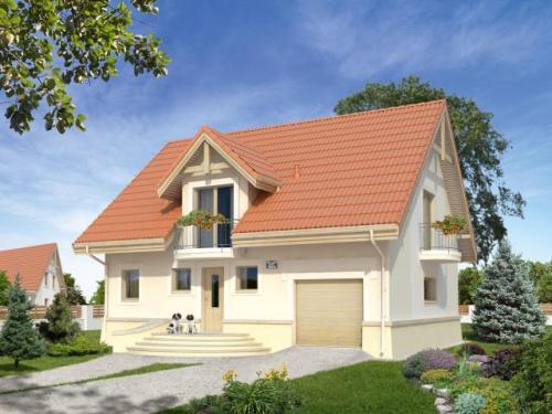 Одноэтажный дом с мансардой и гаражом. Фото 7
