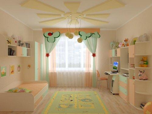 Оформление окна в детской. Фото 11