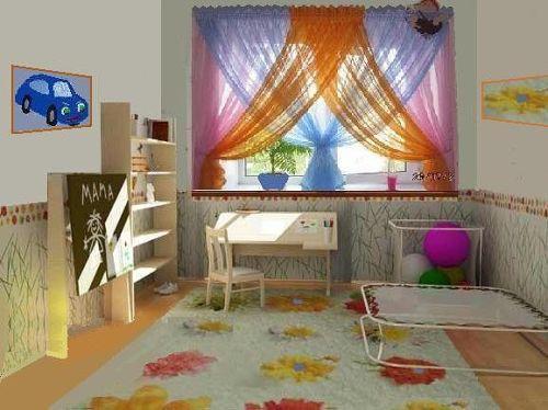 Оформление окна в детской. Фото 27