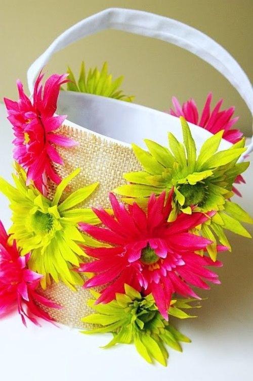 Корзинка своими руками к пасхе с цветами