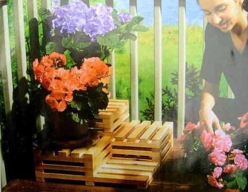 Подставка для цветов своими руками. Как сделать многоуровневую подставку?