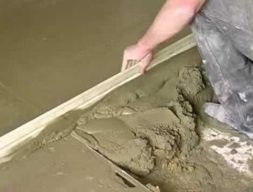 Заливка бетонного слоя