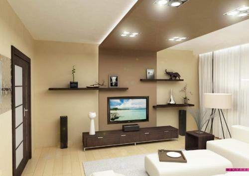 Потолок в гостиной. Фото 4