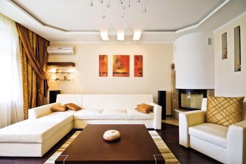 Потолок в гостиной. Фото 9