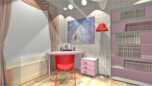 Проект детской комнаты для девочки. Фото 2