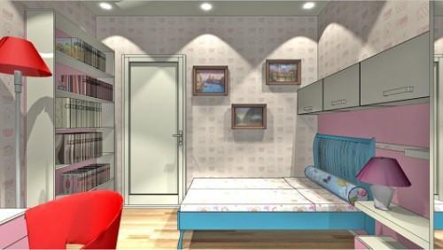 Проект детской комнаты для девочки. Фото 3