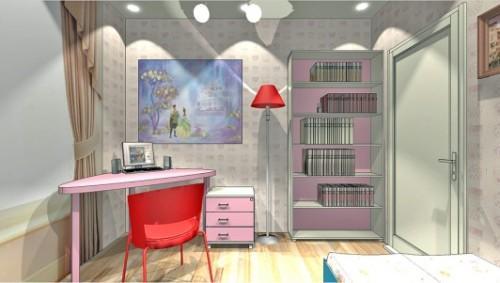 Проект детской комнаты для девочки. Фото 4