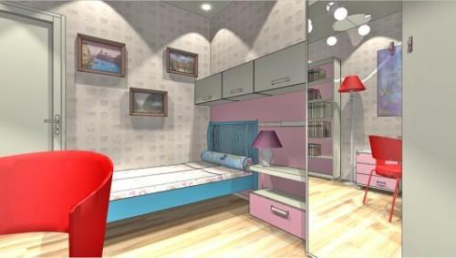 Проект детской комнаты для девочки. Фото 6