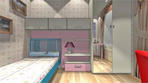Проект детской комнаты для девочки. Фото 7