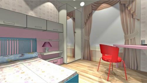 Проект детской комнаты для девочки. Фото 8