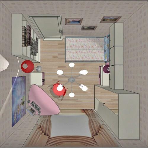 Проект детской комнаты для девочки. Фото 9