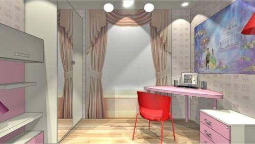 Проект детской комнаты для девочки