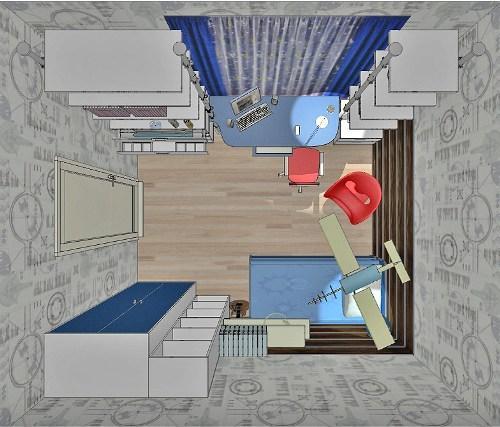 Проект детской комнаты для мальчика. Фото 8
